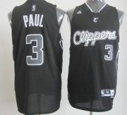 Wholesale Cheap Los Angeles Clippers #3 Chris Paul Revolution 30 Swingman All Black With White Jersey