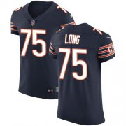 Wholesale Cheap Nike Bears #75 Kyle Long Navy Blue Team Color Men's Stitched NFL Vapor Untouchable Elite Jersey