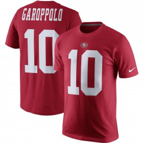Wholesale Cheap San Francisco 49ers #10 Jimmy Garoppolo Nike Player Pride Name & Number T-Shirt Scarlet