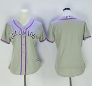Wholesale Cheap Rockies Blank Grey Women's Road Stitched MLB Jersey