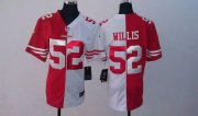 Wholesale Cheap Nike 49ers #52 Patrick Willis Red/White Women's Stitched NFL Elite Split Jersey