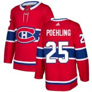 Wholesale Cheap Adidas Canadiens #25 Ryan Poehling Red Home Authentic Stitched Youth NHL Jersey