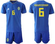 Wholesale Cheap Sweden #6 Augustinsson Away Soccer Country Jersey