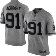Wholesale Cheap Nike Redskins #91 Ryan Kerrigan Gray Men's Stitched NFL Limited Gridiron Gray Jersey