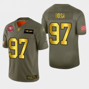 Wholesale Cheap Nike 49ers #97 Nick Bosa Men's Olive Gold 2019 Salute to Service NFL 100 Limited Jersey