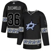 Wholesale Cheap Adidas Stars #36 Mats Zuccarello Black Authentic Team Logo Fashion Stitched NHL Jersey