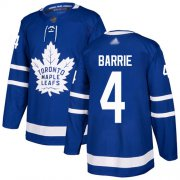Wholesale Cheap Adidas Maple Leafs #4 Tyson Barrie Blue Home Authentic Stitched NHL Jersey
