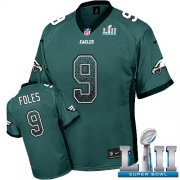 Wholesale Cheap Nike Eagles #9 Nick Foles Midnight Green Team Color Super Bowl LII Men's Stitched NFL Elite Drift Fashion Jersey