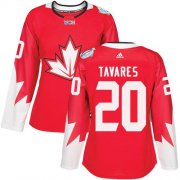 Wholesale Cheap Team Canada #20 John Tavares Red 2016 World Cup Women's Stitched NHL Jersey