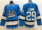 Wholesale Cheap Adidas Jets #29 Patrik Laine Blue Alternate Authentic Stitched NHL Jersey