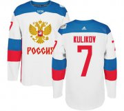 Wholesale Cheap Team Russia #7 Dmitri Kulikov White 2016 World Cup Stitched NHL Jersey