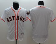 Wholesale Cheap Astros Blank White Flexbase Authentic Collection Stitched MLB Jersey