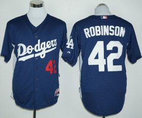 Wholesale Cheap Dodgers #42 Jackie Robinson Navy Blue Cooperstown Stitched MLB Jersey