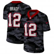 Cheap Tampa Bay Buccaneers #12 Tom Brady Men's Nike 2020 Black CAMO Vapor Untouchable Limited Stitched NFL Jersey