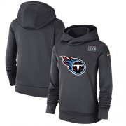 Wholesale Cheap Women's Tennessee Titans Nike Anthracite Crucial Catch Performance Pullover Hoodie