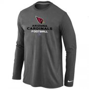 Wholesale Cheap Nike Arizona Cardinals Critical Victory Long Sleeve T-Shirt Dark Grey