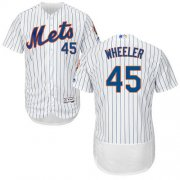 Wholesale Cheap Mets #45 Zack Wheeler White(Blue Strip) Flexbase Authentic Collection Stitched MLB Jersey