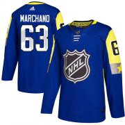 Wholesale Cheap Adidas Bruins #63 Brad Marchand Royal 2018 All-Star Atlantic Division Authentic Stitched NHL Jersey