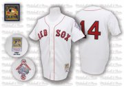 Wholesale Cheap Mitchell And Ness 1987 Red Sox #14 Jim Rice White Throwback Stitched MLB Jersey