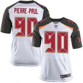 Wholesale Cheap Nike Buccaneers #90 Jason Pierre-Paul White Men\'s Stitched NFL New Elite Jersey