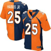 Wholesale Cheap Nike Broncos #25 Chris Harris Jr Orange/Navy Blue Men's Stitched NFL Elite Split Jersey