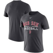 Wholesale Cheap Boston Red Sox Nike Practice Performance T-Shirt Anthracite