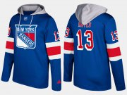 Wholesale Cheap Rangers #13 Kevin Hayes Blue Name And Number Hoodie