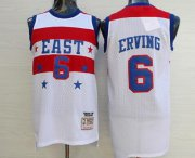 Wholesale Cheap NBA 1980 All-Star Men's #6 Julius Erving White Hardwood Classics Soul Swingman Throwback Jersey