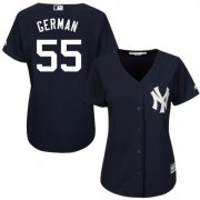 Wholesale Cheap Yankees #55 Domingo German Navy Blue Alternate Women's Stitched MLB Jersey