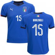 Wholesale Cheap Italy #15 Barzagli Home Kid Soccer Country Jersey