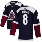 Wholesale Cheap Adidas Avalanche #8 Cale Makar Navy Alternate Authentic Stitched Youth NHL Jersey