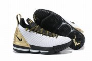 Wholesale Cheap Nike Lebron James 16 Air Cushion Shoes White Gold Champion