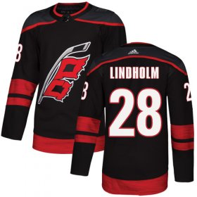 Wholesale Cheap Adidas Hurricanes #28 Elias Lindholm Black Alternate Authentic Stitched NHL Jersey