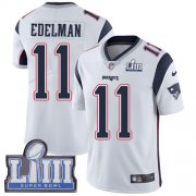 Wholesale Cheap Nike Patriots #11 Julian Edelman White Super Bowl LIII Bound Men's Stitched NFL Vapor Untouchable Limited Jersey