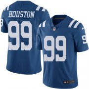 Wholesale Cheap Nike Colts #99 Justin Houston Royal Blue Men's Stitched NFL Limited Rush Jersey