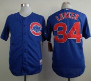 Wholesale Cheap Cubs #34 Jon Lester Blue Cool Base Stitched MLB Jersey