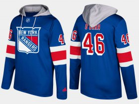 Wholesale Cheap Rangers #46 Rob O\'Gara Blue Name And Number Hoodie