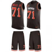 Wholesale Cheap Nike Browns #71 Jedrick Wills JR Brown Team Color Men's Stitched NFL Limited Tank Top Suit Jersey