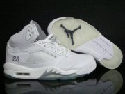 Wholesale Cheap Air Jordan 5 Retro Shoes White