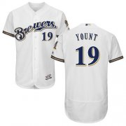 Wholesale Cheap Brewers #19 Robin Yount White Flexbase Authentic Collection Stitched MLB Jersey