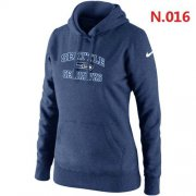 Wholesale Cheap Women's Nike Seattle Seahawks Heart & Soul Pullover Hoodie Dark Blue