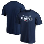 Wholesale Cheap New England Patriots 2019 NFL Playoffs Bound Chip Shot T-Shirt Navy