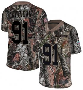 Wholesale Cheap Nike Redskins #91 Ryan Kerrigan Camo Men\'s Stitched NFL Limited Rush Realtree Jersey