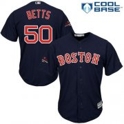 Wholesale Cheap Red Sox #50 Mookie Betts Navy Blue New Cool Base 2018 World Series Champions Stitched MLB Jersey