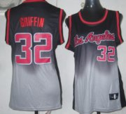 Wholesale Cheap Los Angeles Clippers #32 Blake Griffin Black/Gray Fadeaway Fashion Womens Jersey