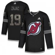 Wholesale Cheap Adidas Devils #19 Travis Zajac Black Authentic Classic Stitched NHL Jersey