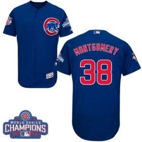 Wholesale Cheap Cubs #38 Mike Montgomery Blue Flexbase Authentic Collection 2016 World Series Champions Stitched MLB Jersey