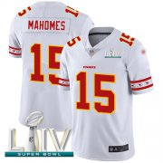 Wholesale Cheap Nike Chiefs #15 Patrick Mahomes White Super Bowl LIV 2020 Men's Stitched NFL Limited Team Logo Fashion Jersey