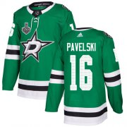 Wholesale Cheap Adidas Stars #16 Joe Pavelski Green Home Authentic 2020 Stanley Cup Final Stitched NHL Jersey
