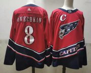 Wholesale Cheap Men's Washington Capitals #8 Alex Ovechkin Red 2021 Retro Stitched NHL Jersey